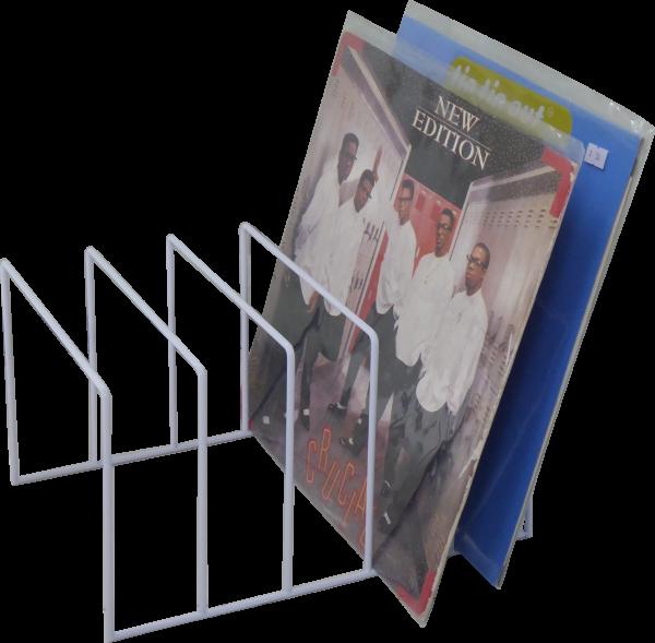 Schallplatten Ständer weiss / Vinyl Records LP Tisch-Rack white