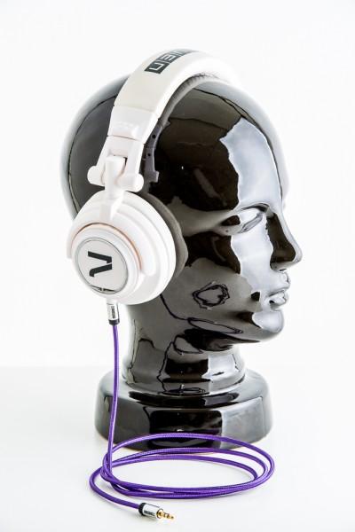 Kopfhörer weiß-lila