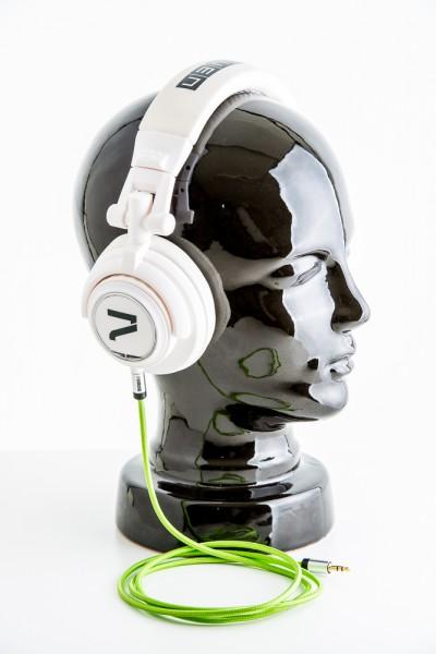 Kopfhörer Weiß-Grün