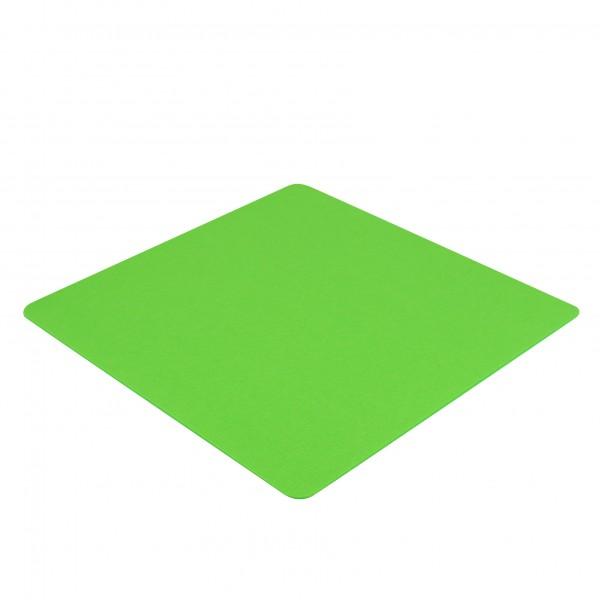 Filz Auflage 50 x 50 cm für z.B. Cube Hocker Neon Grün - Einseitig 4mm