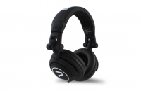 7even Headphone black / Dj, Hifi, Sport Kopfhörer, dreh-klappbar,tauschbares Kabel,Rubber-Finish