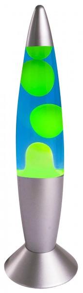 Lava Lampe Rakete 35cm Grün-Blau