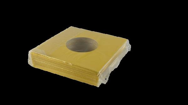 """7"""" Cover mit Loch in gelb (20 Stück)"""