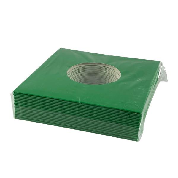 """7"""" Cover mit Loch in grün (20 Stück)"""