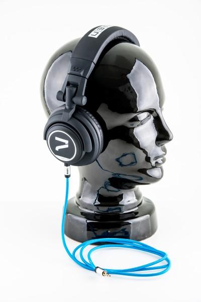 Kopfhörer mit Aux-Kabel blau