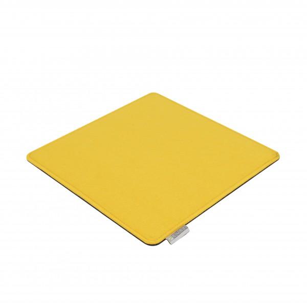 Filz Kissen-Auflage 30cm gelb/grau Filz