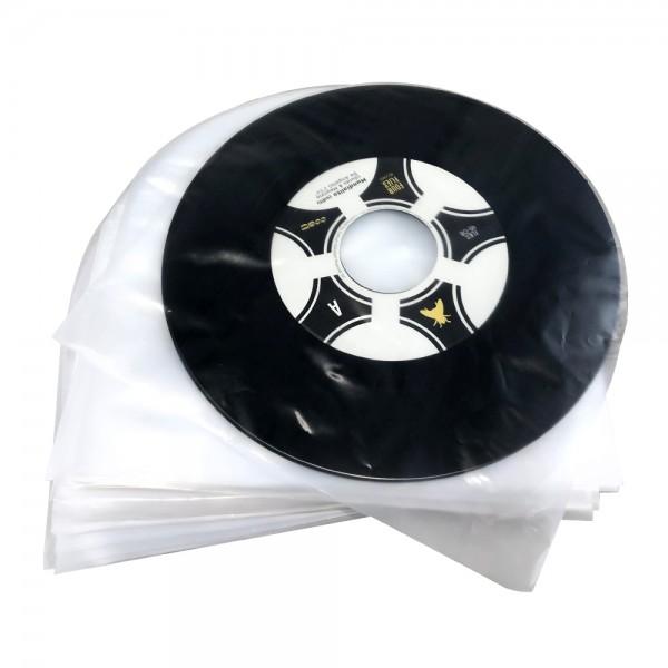"""7"""" Single-Schallplatten Innenhüllen Super soft, hohe Qualität, Antistatik-Folie, abgerundete Ecken ("""