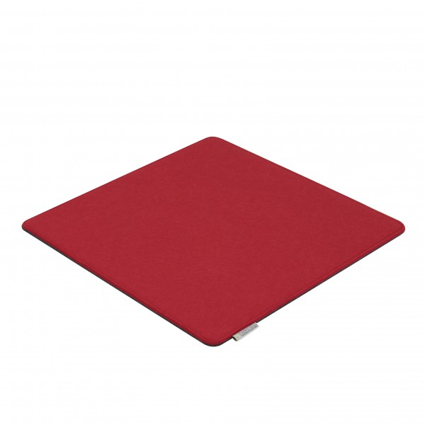 7even Filz Auflage 40 x 40 cm für z.B. Cube Hocker Rot/Grau - Beidseitig 4mm/4mm