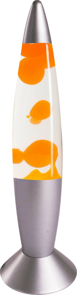Lavalampe Rakete 35cm Oranges Wach und Helle Flüssigkeit