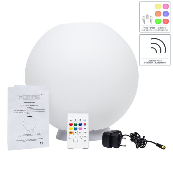 Pool LED-Kugel 30cm mit Lautsprecher und Bluetooth Funktion! IP-X7