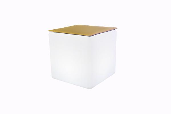LED Design Cube 40 / LED Leuchtwürfel Bundle mit Filz Sitzauflage