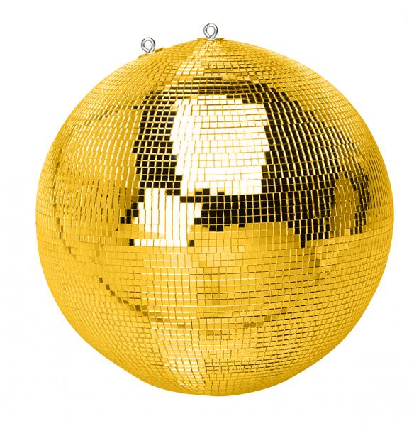 Spiegelkugel gold 50cm mit Motor (inkl. Zweiter Sicherheitsöse an Kugel und Motor)
