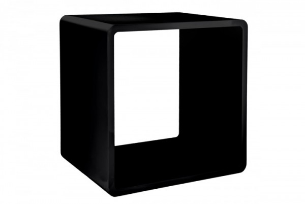 7even Lounge Design Cube / 70`s Space Age Stil 45cm Cuben Würfel Regal Retro schwarz (B-Ware)