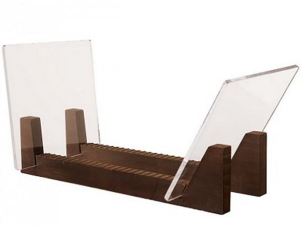 Schallplatten Flip Ständer Holz-Acryl Stand für LPs