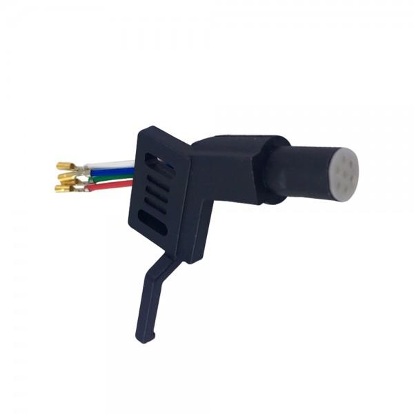 Headshell ADC 7 Polig schwarz Systemträger passend für Plattenspieler mit geradem Tonarm
