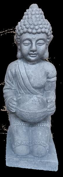 Buddha Figur ca. 43cm - robust und wetterfest in original Steinoptik