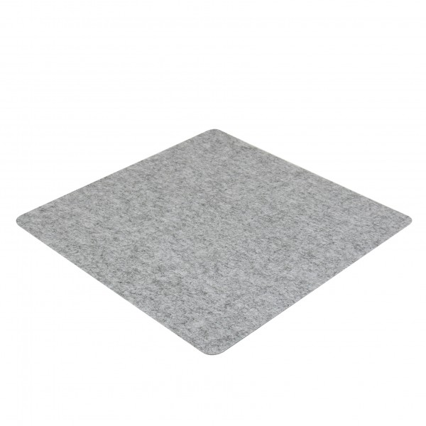 Filz Auflage 50 x 50 cm für z.B. Cube Hocker Grau - Einseitig 4mm