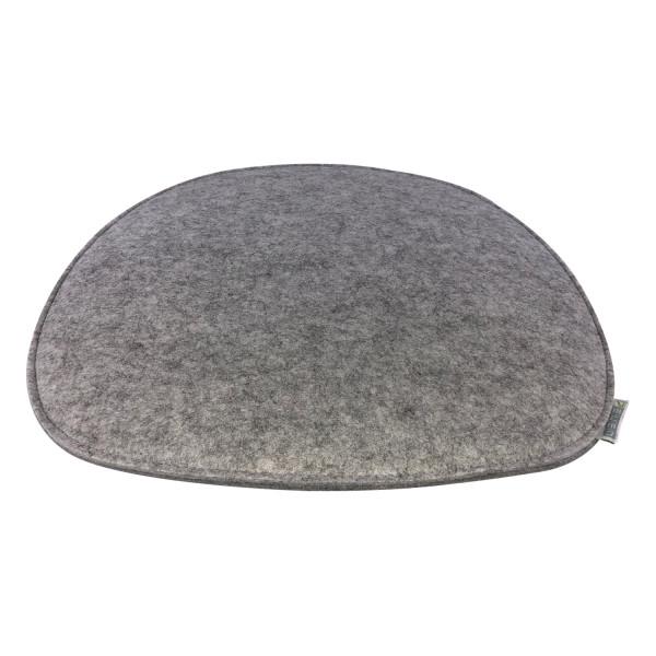 Filz Auflage 35,5 x 39cm grau/dunkelgrau gefüttert