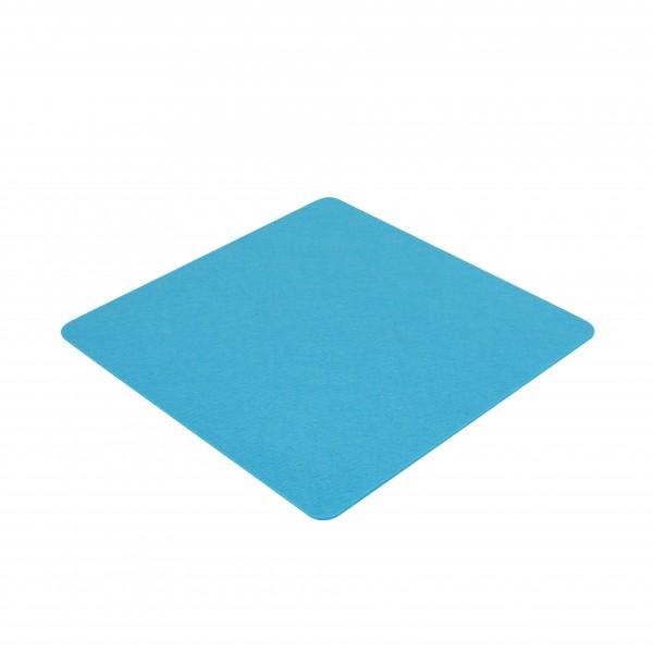 Filz Bank oder Stuhl Auflagen Kissen blau