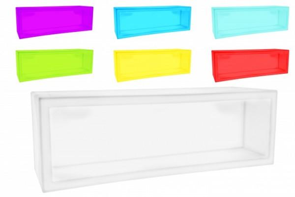 7even LED Design Regal o. Pflanzkübel 120 x 40 x 40 cm! Farbwechsel und Fernbedienbar (IR)