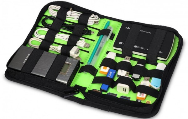 7even Accessoire Wallet Medium / Organizer, Mappe für USB Sticks, Kabel etc. / Bag, Tasche, Case, S