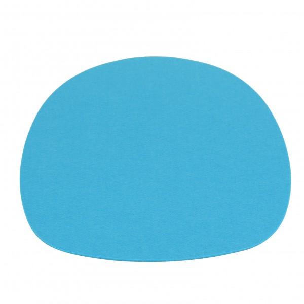 Filz Auflage 35,5 x 39 cm für z.B. , Barchair, Armchair, Sidechair u.v.mehr. Blau 4mm