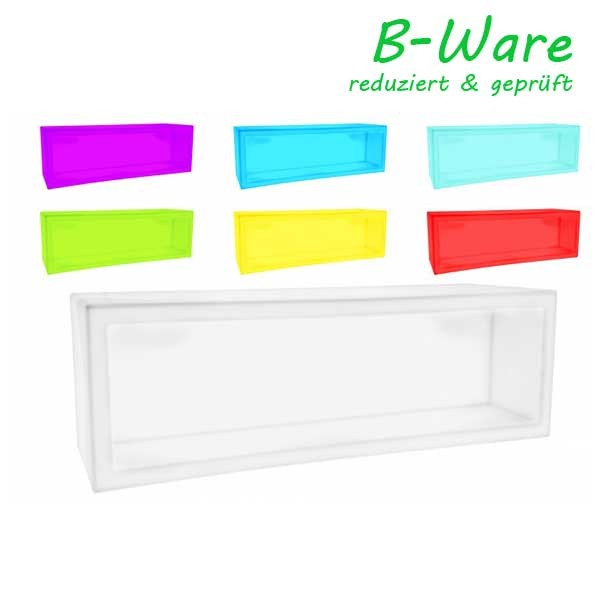 7even LED Design Regal & Pflanztopf 120 x 40 x 40 cm! Farbwechsel und Fernbedienbar (IR) (B-Ware)