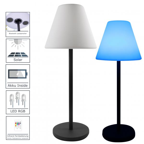 Design LED-Solar-Lautsprecher Stehlampe für Aussen