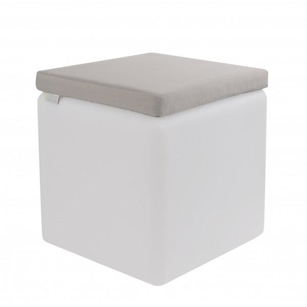 LED Sitzwürfel 40cm mit Wasserfesten Kissen