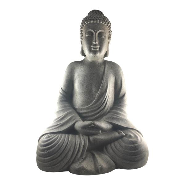 Große Buddha Figur ca. 51cm - robust und wetterfest in original Steinoptik
