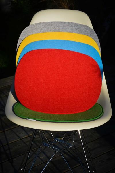 Filz Auflage 35,5 x 39 cm für z.B. , Barchair, Armchair, Sidechair u.v.mehr. rot 4mm