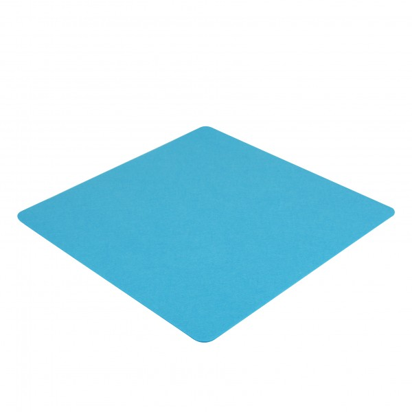 Filz Auflage 50 x 50 cm für z.B. Cube Hocker Blau - Einseitig 4mm