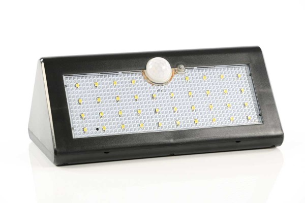 Solar-LED-Wandlampe mit Bewegungsmelder