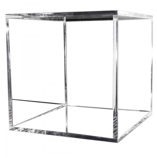 7even Acryl Design Cube 50cm,15mm, 4 sides / transparenter Beistelltisch