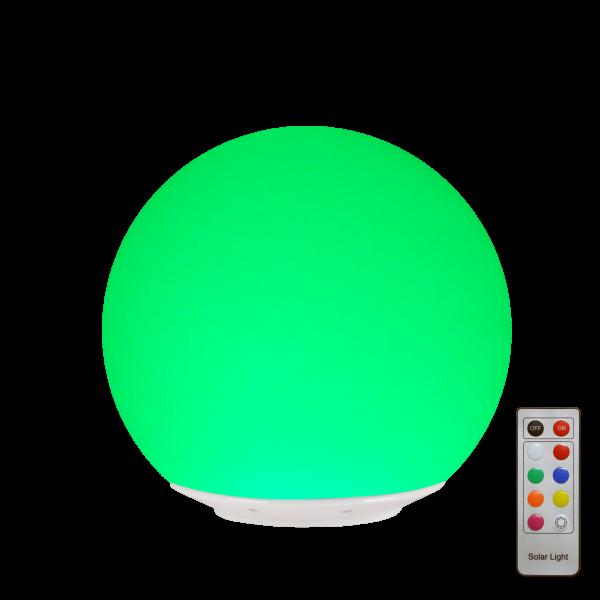 LED Leuchtkugel 20cm Solarbetrieben, Farbwechsel, Fernbedienbar
