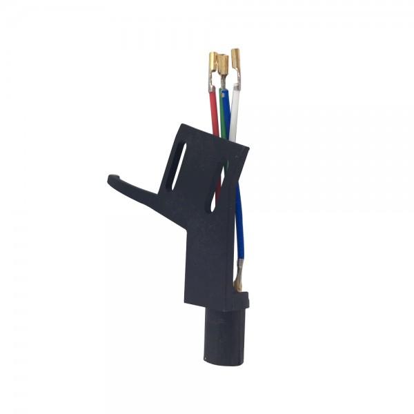Headshell lang ADC 7 Polig schwarz Systemträger passend für Plattenspieler mit geradem Tonarm