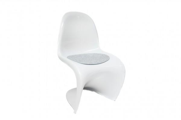 Filz Auflage passend für z.b. Panton Chair in diversen Farben 35,5 x 39cm