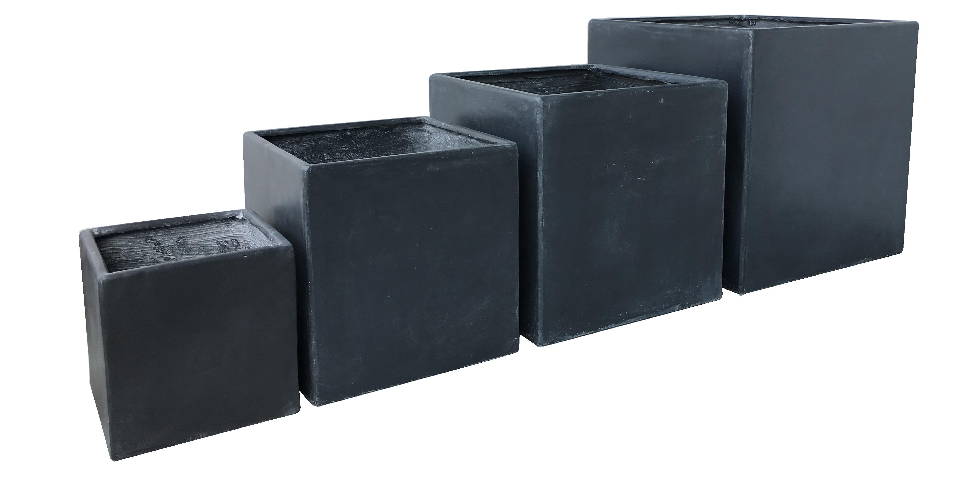 exklusiv & hochwertig - premium pflanzkübel set - lounge cube pot