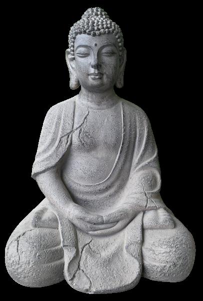 Große Buddha Steingemisch Figur 51cm hoch für Garten o. Wohnung
