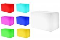7even LED Design Bank / LED Leucht Sitzbank / In und Outdoor / Akku und RF 1.0 Fernbedienung,55 x 30