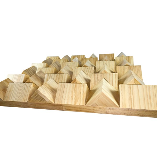 Holz 3D Diffusor Panel 600 x 600 x 85mm