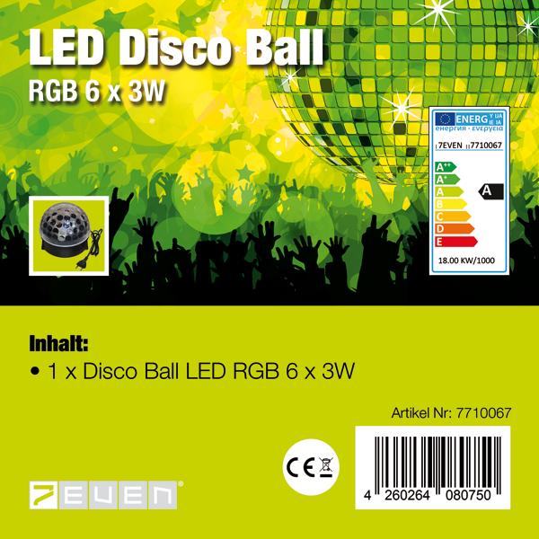 LED Disco Ball Lichteffekt 6 x 3 RGB