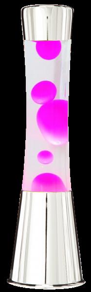 Lavalampe 40cm Pink/ Magma Lampe Chrom Pink