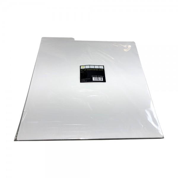Schallplatten Trennwände in weiß / 10 Stück LP Archiv-Registerwände