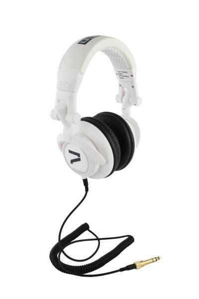 Kopfhörer weiß und schwarze Pads