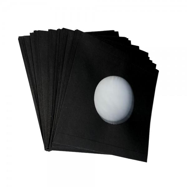 """7"""" Schallplatten Innenhülle schwarz gefüttert (50 Stück Pack)"""