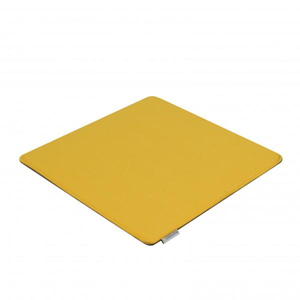 Filz Auflagen Kissen gelb-grau 40x40 cm