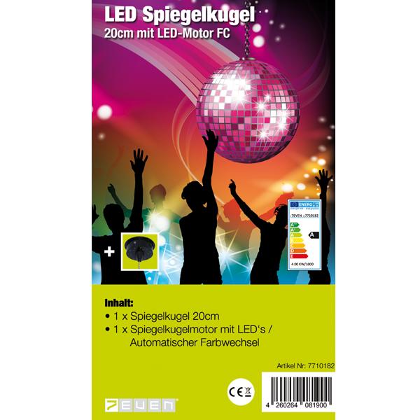 LED Spiegelkugelset mit Farbwechsel Motor