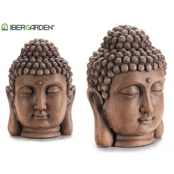 Buddha Kopf Dekofigur natürlich Antike Optik 28 x 18 x 21 cm