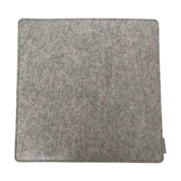 Filz Auflage 35 x 35cm Grau/Dunkelgrau
